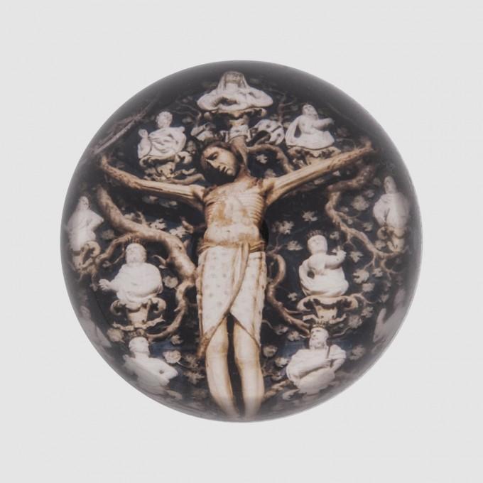 HEMIMORPHOSE 11 CM RELIGION CHRIST AUX SAINTS