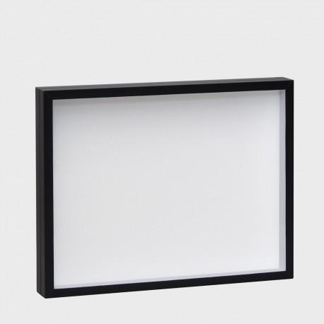 BOÎTE ENTOMOLOGIE NOIR FOND BLANC 39x50